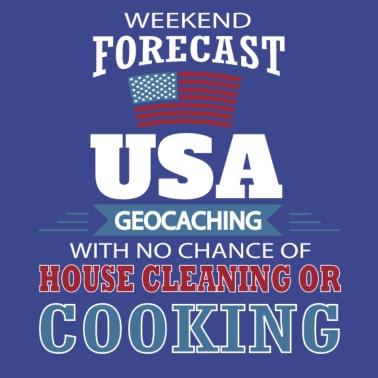 d87dcf8f91b Weekend Forecast USA Geocaching T Shirt - Apron