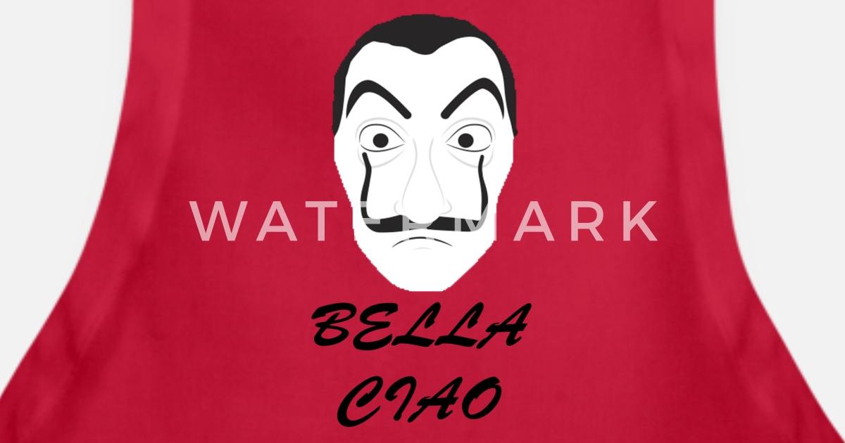 Mask Dali Bella Ciao La Casa De Papel Apron Spreadshirt