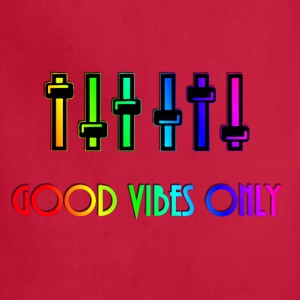 Rainbow colors good vibes only tee music equalizer - Adjustable Apron