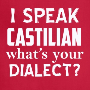 CASTILIAN dialect - Adjustable Apron