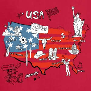 Usa map - Adjustable Apron