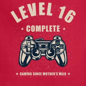Level 16 Complete Video Gaming T Shirt - Adjustable Apron