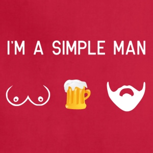 i am a simple man - tits beer beard male movember - Adjustable Apron