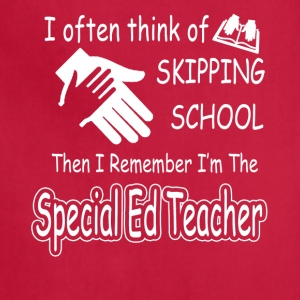 special ed teacher tee shirt - Adjustable Apron