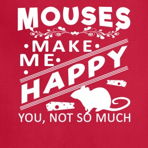 Mouse make me happy Shirt - Adjustable Apron
