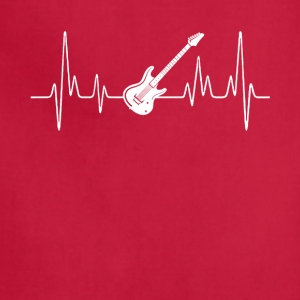 Electric Guitar Heartbeat Shirt - Adjustable Apron