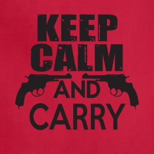 Keep Calm And Carry Guns T Shirt - Adjustable Apron