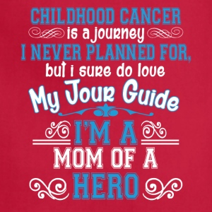 Childhood Cancer Awareness Mom Of A Hero T Shirt - Adjustable Apron