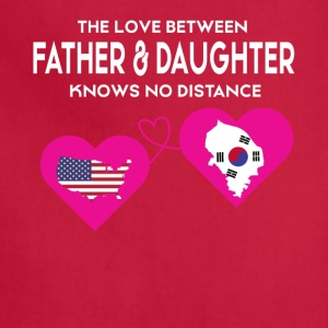 The Love Between Father And Daughter T Shirt - Adjustable Apron
