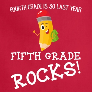 fourth grade is so last year, fifth grade Rocks! - Adjustable Apron