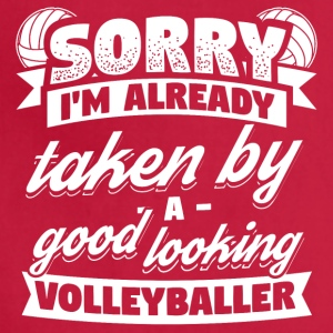 Funny Volleyball Player Shirt Already Taken - Adjustable Apron