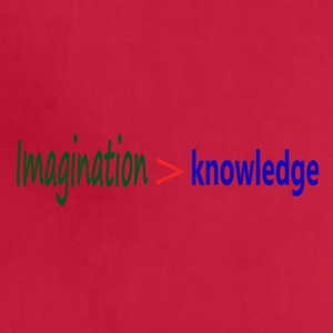 Imagination > knowledge - Albert Einstein Quote - Adjustable Apron