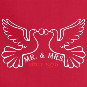Mr And Mrs Since 1976 Married Marriage Engagement - Adjustable Apron