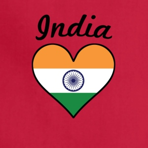 India Flag Heart - Adjustable Apron