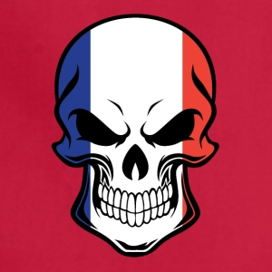 French Flag Skull - Adjustable Apron