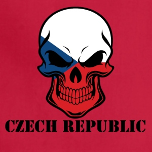 Czech Flag Skull Czech Republic - Adjustable Apron