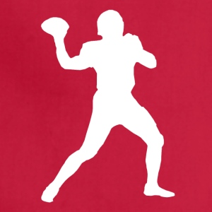 Football Quarterback Silhouette - Adjustable Apron