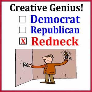 Redneck creative Genius Democrat Republican - Adjustable Apron