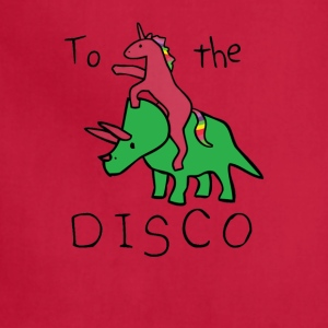 To The Disco Unicorn Riding Triceratops - Adjustable Apron