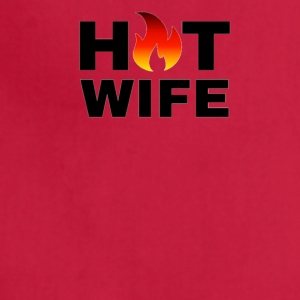 HOT WIFE TSHIRT APPAREL ACCESSORIES DESIGN - Adjustable Apron