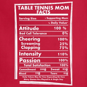 Table Tennis Mom Facts Daily Values May Be Vary - Adjustable Apron