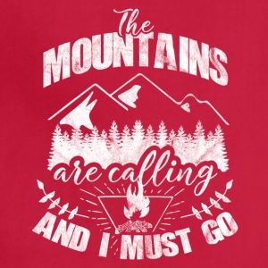 the mountains are calling - Gift for hiker - Adjustable Apron