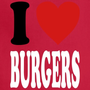 I love BURGERS (variable colors!) - Adjustable Apron