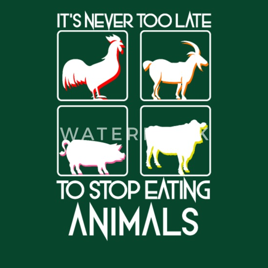 53630ddb Stop Eating Animals T-Shirt Gift for Vegans Apron | Spreadshirt