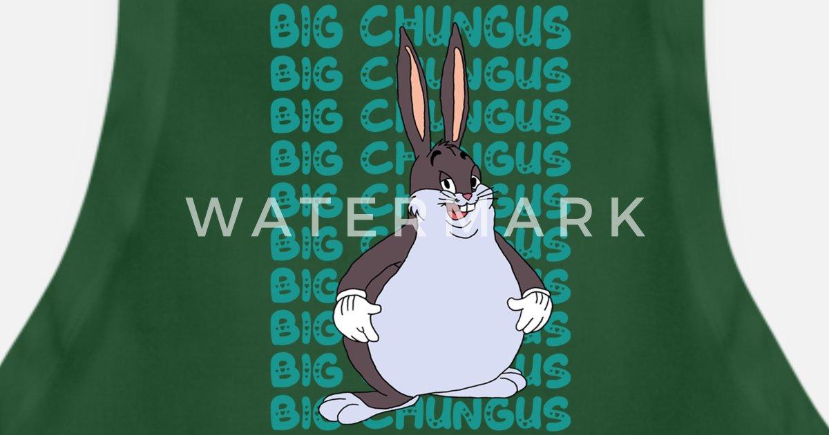 Funny Big Chungus Meme Lovers Fat Rabbit Apron Spreadshirt