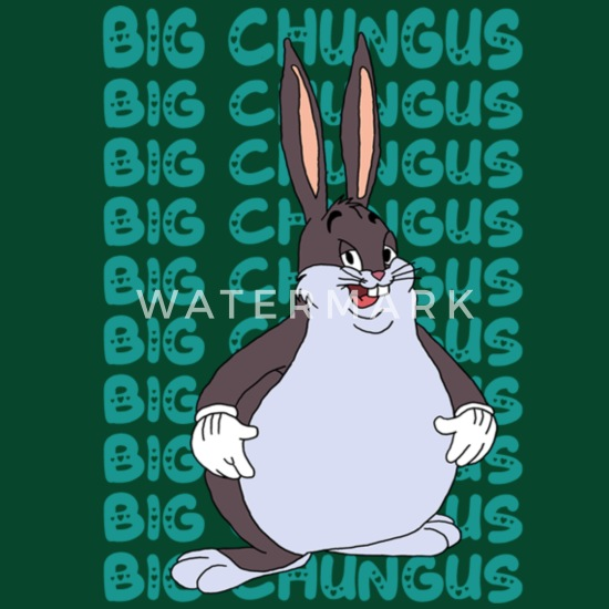 Funny Big Chungus Meme Lovers Fat Rabbit Apron Spreadshirt