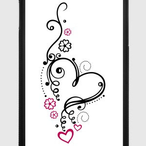 Large heart with small hearts and flowers - iPhone 7 Plus Rubber Case