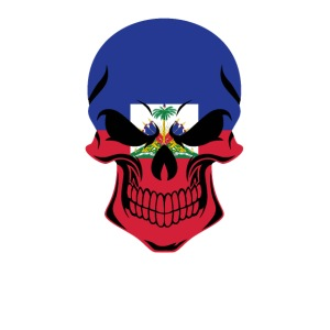 Haitian Flag Skull Haiti - iPhone 7 Plus Rubber Case