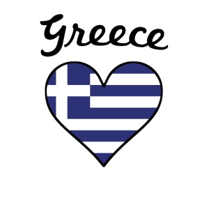 Greece Flag Heart - iPhone 7 Plus Rubber Case