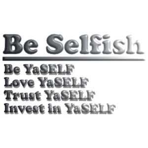 Be Selfish Tee - iPhone 7 Plus Rubber Case