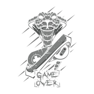 Game Over Snake - iPhone 7 Plus Rubber Case