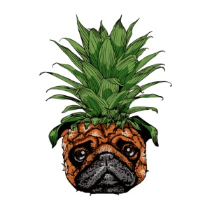 Pineapple Pug - iPhone 7 Plus Rubber Case