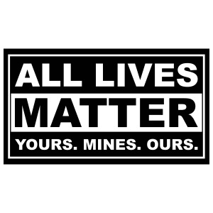 all lives matter yours. mines. ours. - iPhone 7 Plus Rubber Case