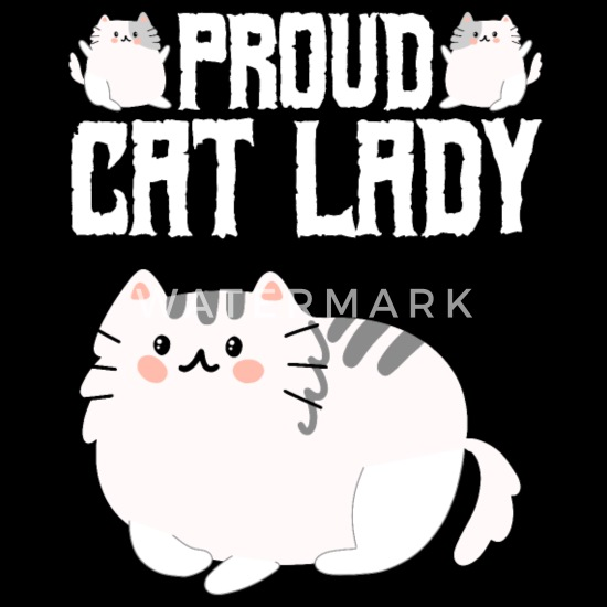 1Tee Womens Loose Fit This Lady Has Cattitude Cat T-Shirt