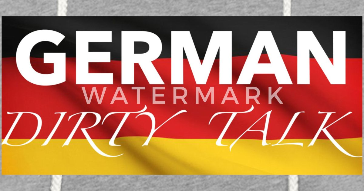 German Dirty Talk - Flag Logo Unisex Lightweight Terry