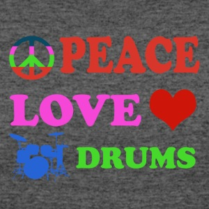 Peace love Drums - Women's 50/50 T-Shirt