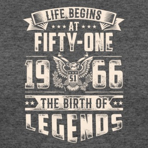 Life Begins at Fifty-One Legends 1966 for 2017 - Women's 50/50 T-Shirt