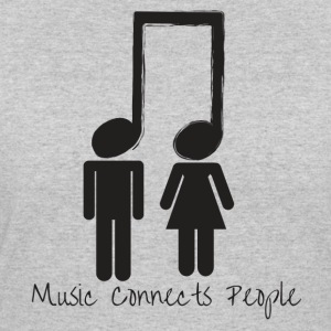 Music Connects People - Women's 50/50 T-Shirt
