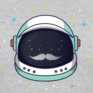 Astronaut Loves Mustache - Women's 50/50 T-Shirt