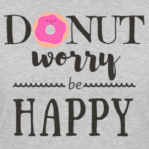 Donut Worry Be Happy 2 - Women's 50/50 T-Shirt