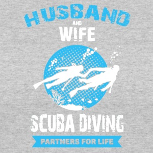 Husband And Wife Scuba Diving Partners Shirts - Women's 50/50 T-Shirt
