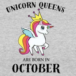 UNICORN QUEENS ARE BORN IN OCTOBER - Women's 50/50 T-Shirt