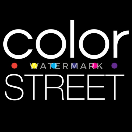Color Street White Block Logo With Color Dots Women S 50 50 T Shirt