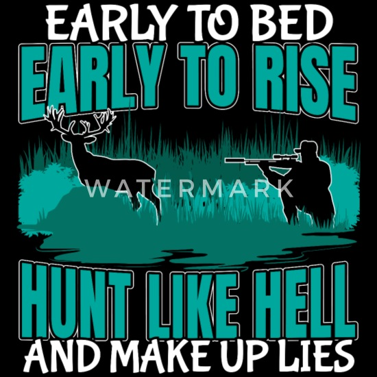 Hunt Like Hell Make Up Lies Funny Bow Hunting Women S 50 50 T Shirt Spreadshirt