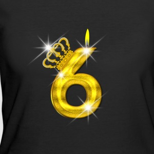 6 - Birthday - Golden Number - Crown - Flame - Women's 50/50 T-Shirt