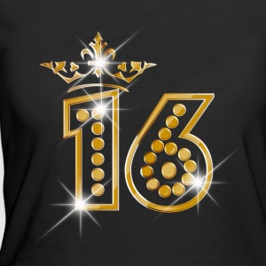 16 - Birthday - Queen - Gold - Burlesque - Women's 50/50 T-Shirt